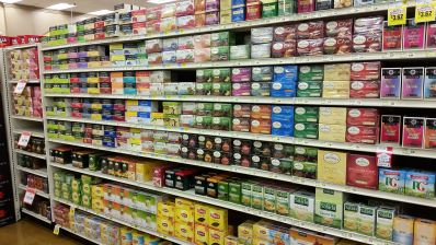 grocery store tea selection