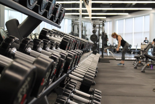 fitness equipment in the gym